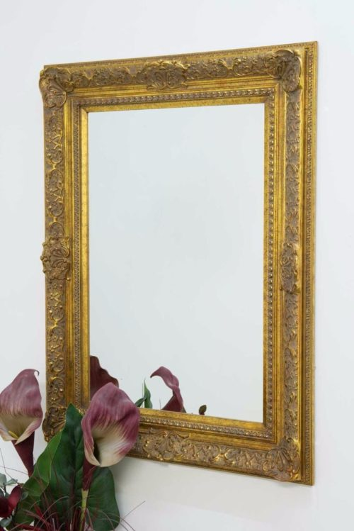 Merriott 102x76cm Gold Wall Mirror