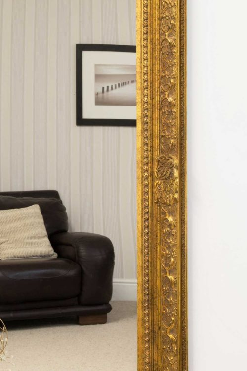 Merriott 127x102cm Gold Large Wall Mirror