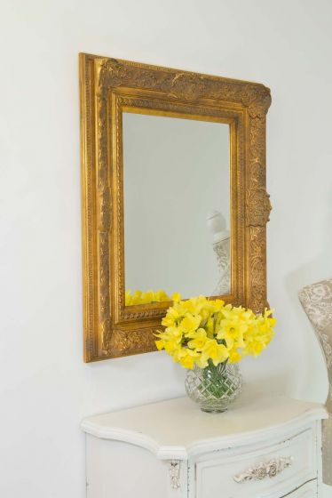 Merriott 76x66cm Gold Wall Mirror