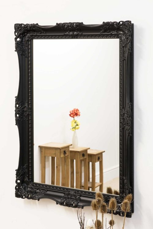 Draycott 109x78cm Black Wall Mirror