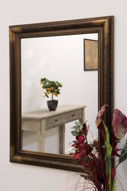 Molten 127x102cm Brown Large Wall Mirror