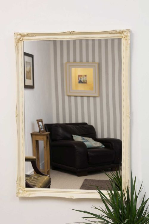 Doniford 102x71cm Ivory Wall Mirror
