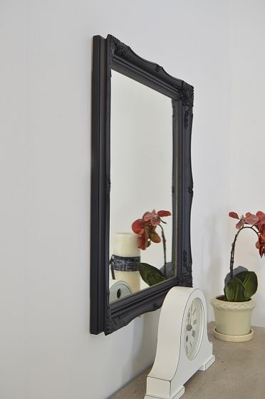 Doniford 61x51cm Black Wall Mirror