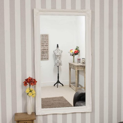 Cannington 137x76cm White Large Wall Mirror