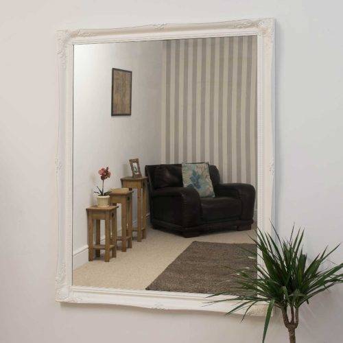 Cannington 137x107cm White Large Wall Mirror