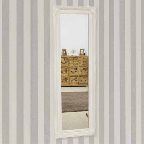 Cannington 137x46cm White Large Wall Mirror