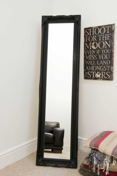 Cannington 168x46cm Black Extra Large Free Standing Mirror