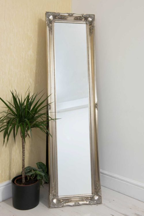 Cannington 168x46cm Silver Extra Large Free Standing Mirror