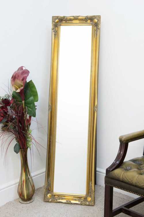 Cannington 168x46cm Gold Extra Large Free Standing Mirror