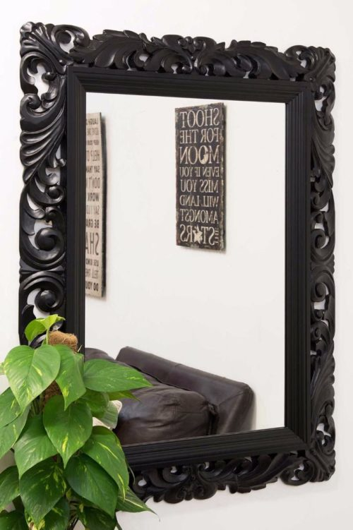 Raddington 122x91cm Black Large Wall Mirror