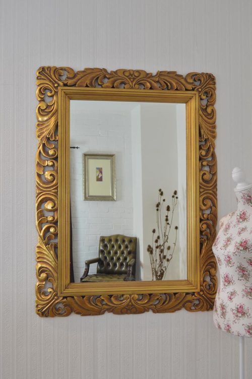 Raddington 122x91cm Gold Large Wall Mirror