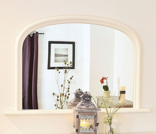 Launcester 120x79cm White Overmantle Mirror
