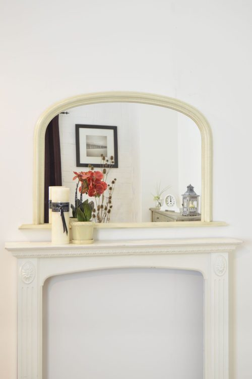 Launcester 120x79cm Ivory Overmantle Mirror