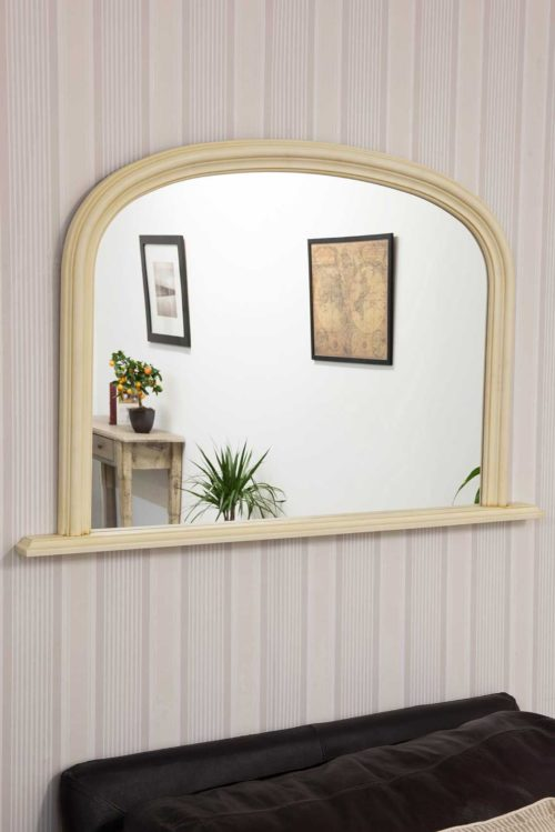 Launcester 120x79cm Cream Overmantle Mirror