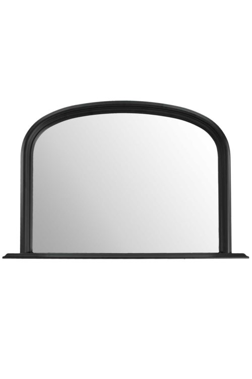 Launcester 120x79cm Black Overmantle Mirror