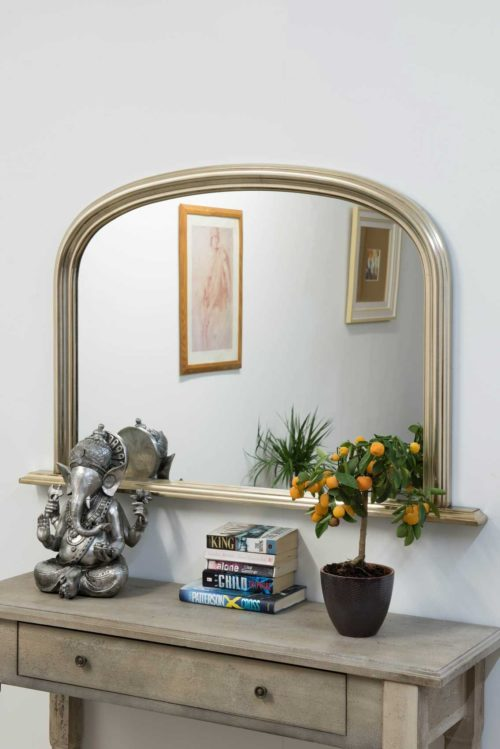 Launcester 120x79cm Champagne Overmantle Mirror