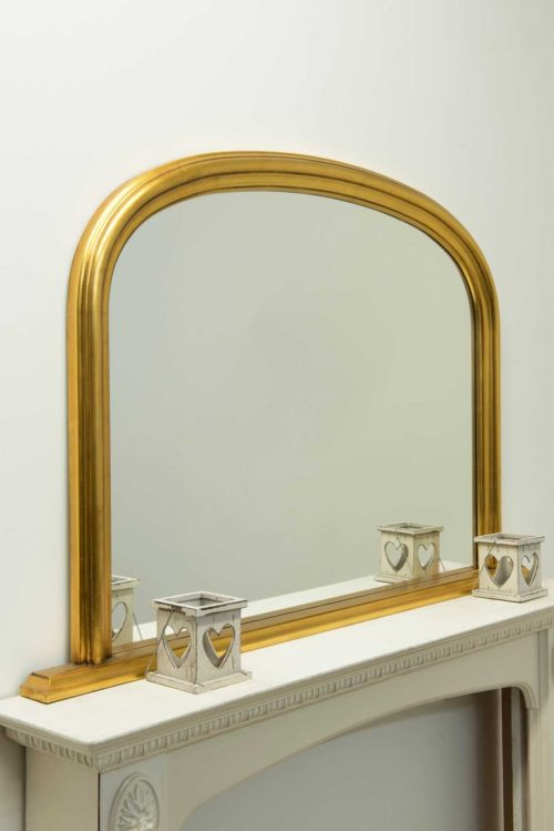 Launcester 120x79cm Gold Overmantle Mirror