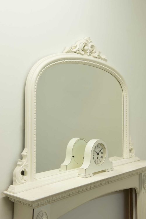 Loxton 127x91cm White Large Overmantle Mirror