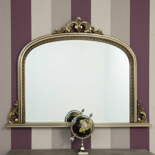 Loxton 127x91cm Champagne Large Overmantle Mirror