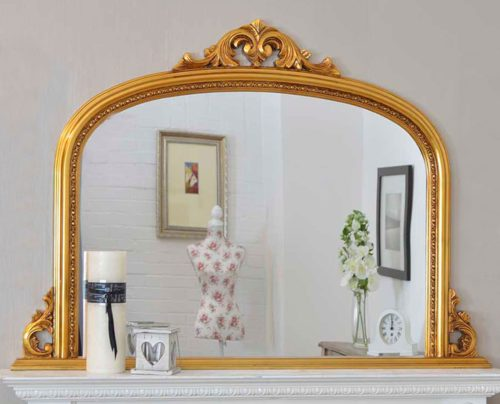 Loxton 127x91cm Gold Large Overmantle Mirror