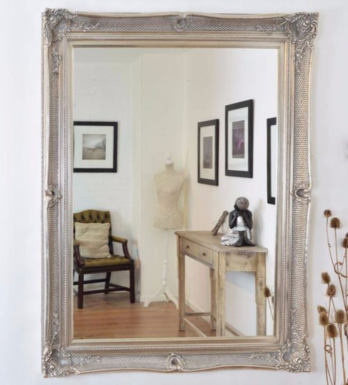 Shillingford 149x119cm Silver Large Wall Mirror