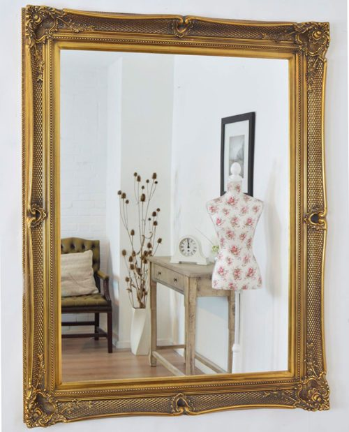 Shillingford 149x119cm Gold Large Wall Mirror