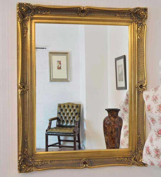 Shillingford 130x104cm Gold Large Wall Mirror