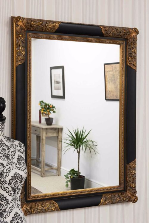 Bathford 112x81cm Black Wall Mirror