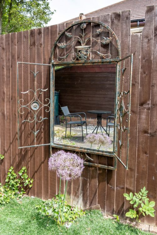 Ashbury 130x70cm Brown Large Garden Mirror
