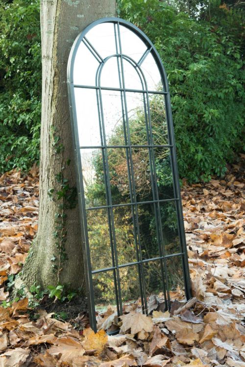 Honiton 140x65cm Black Large Garden Mirror