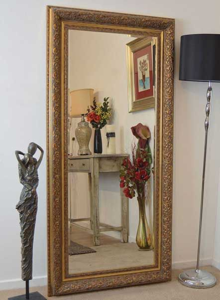 Braunton 178x86cm Gold Extra Large Full Length Mirror