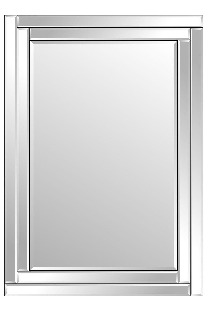 Lingport 100x70cm Frameless Wall Mirror