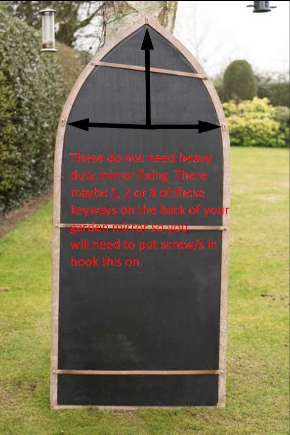 Arscott 140x40cm Black Large Garden Mirror