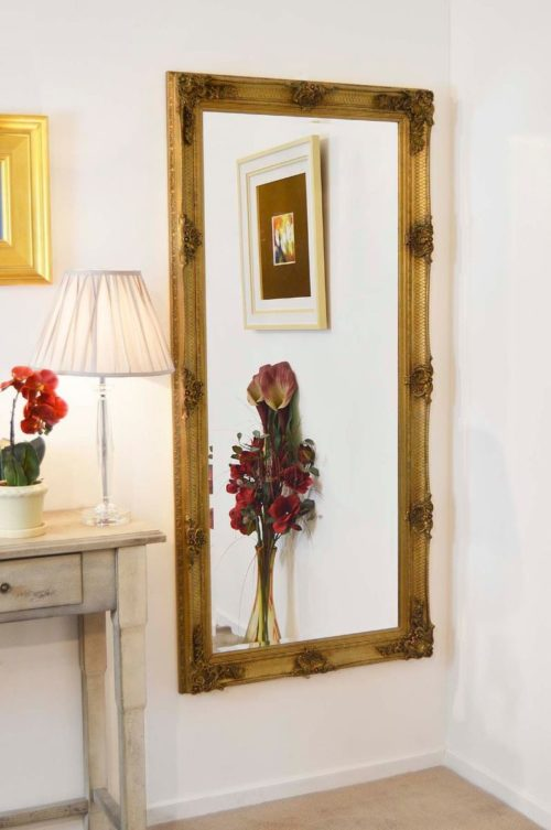 Langford 168x78cm Gold Extra Large Full Length Mirror