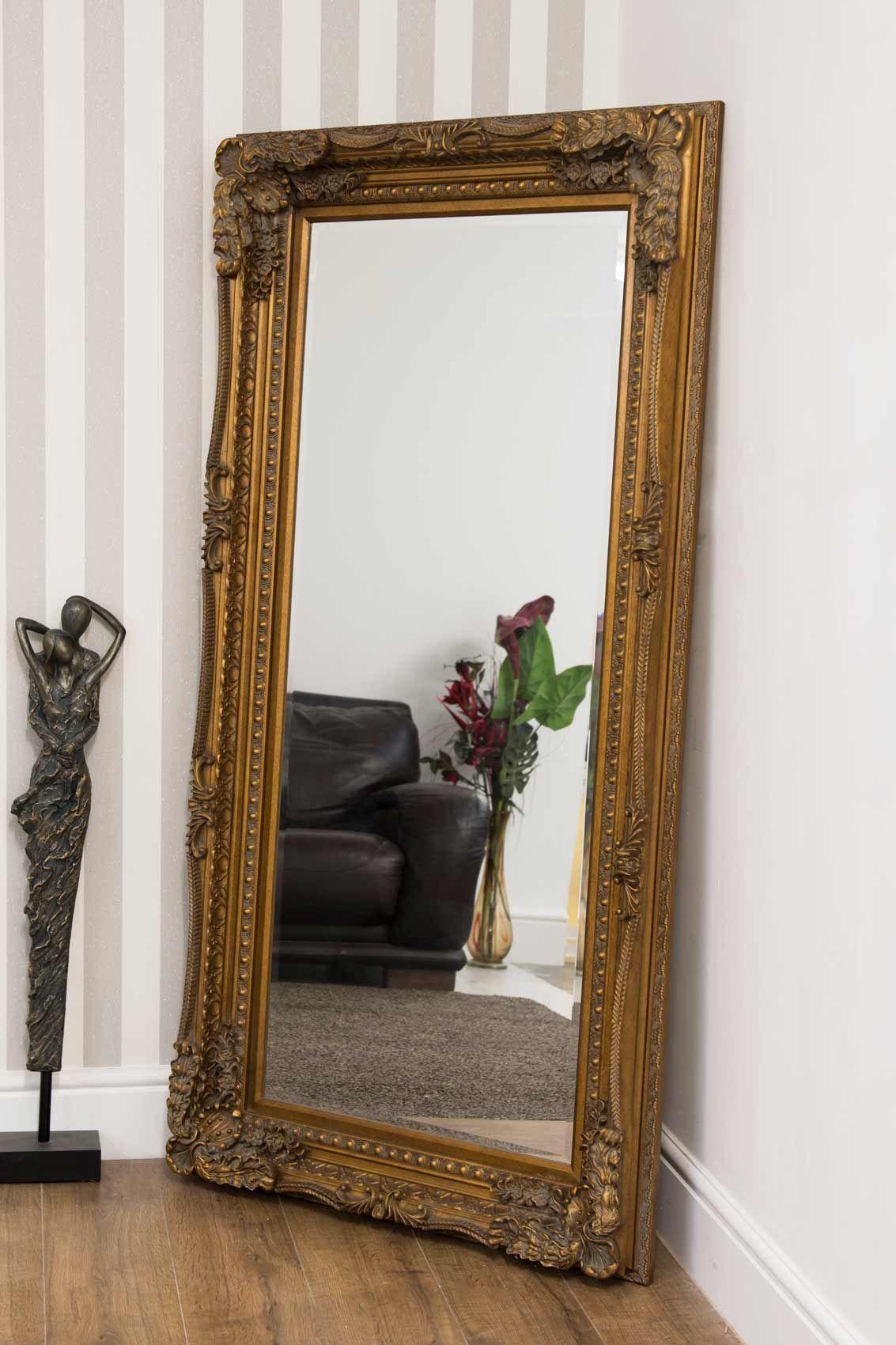 Bossington 175x89cm Gold Extra Large Full Length Mirror