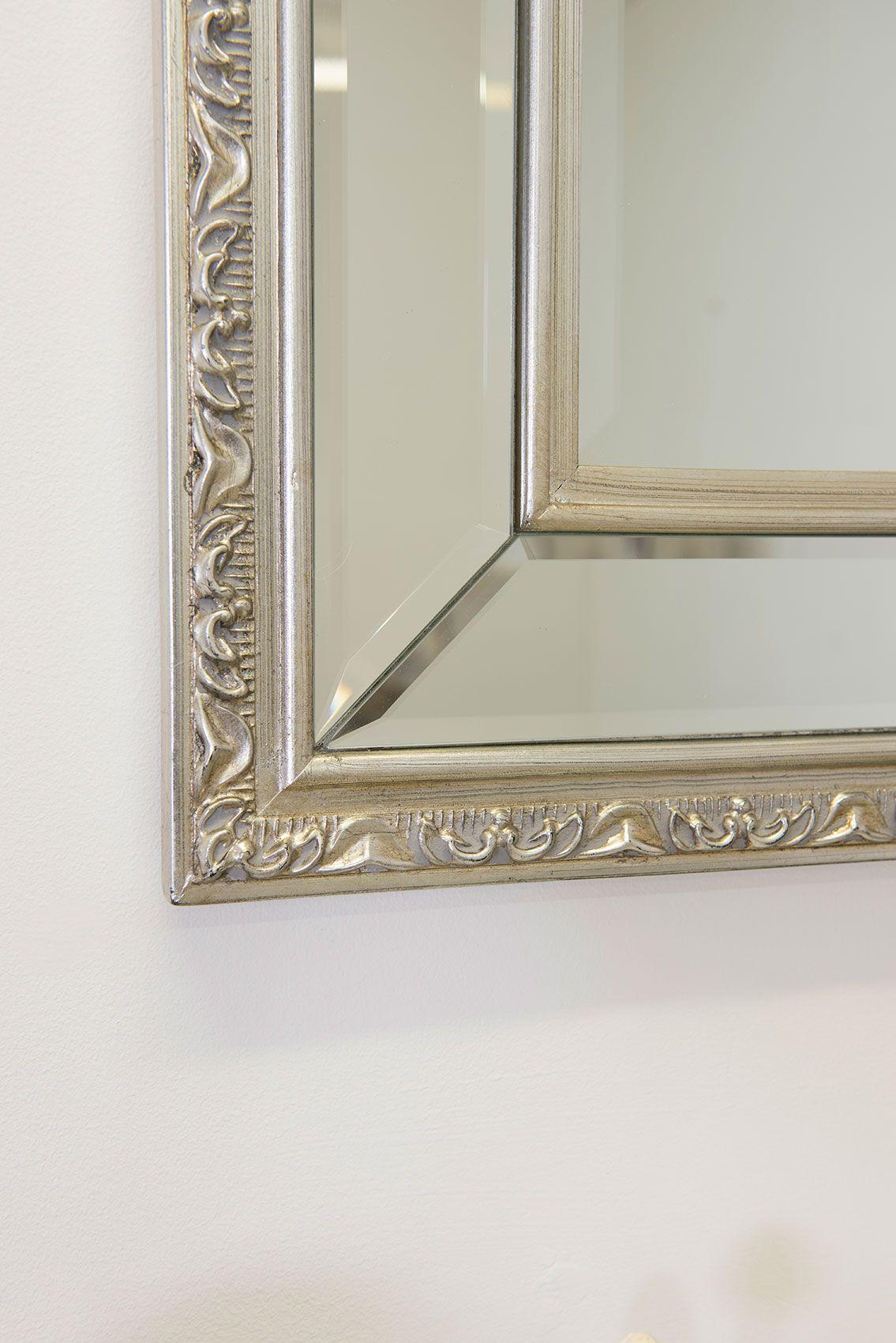 Cheriton 115x84cm Silver Wall Mirror