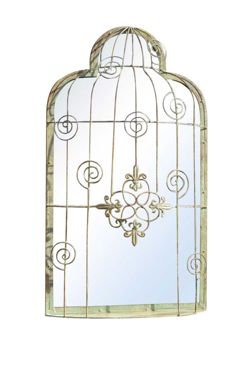 Seaton 70x40cm Green Garden Mirror