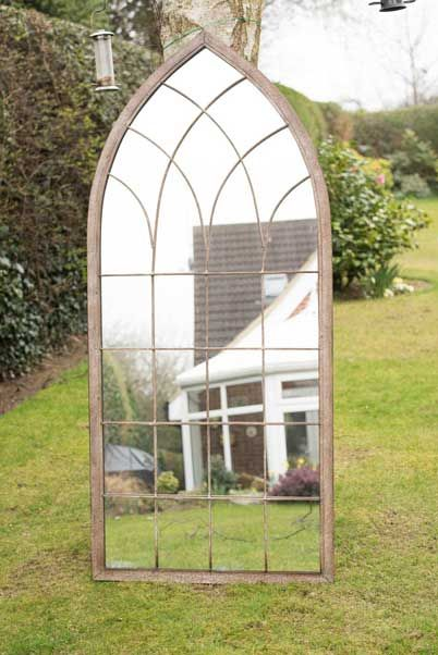 Arscott 169x75cm Brown Extra Large Garden Mirror