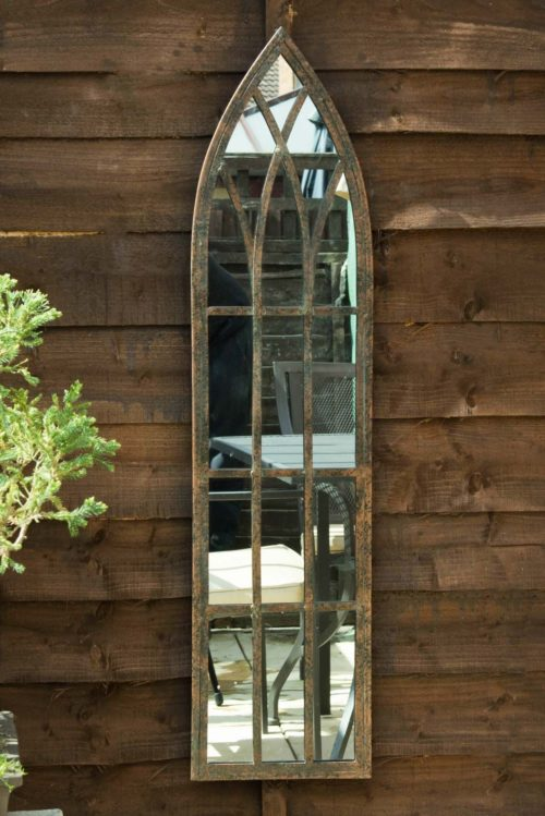 Arscott 100x24cm Brown Garden Mirror