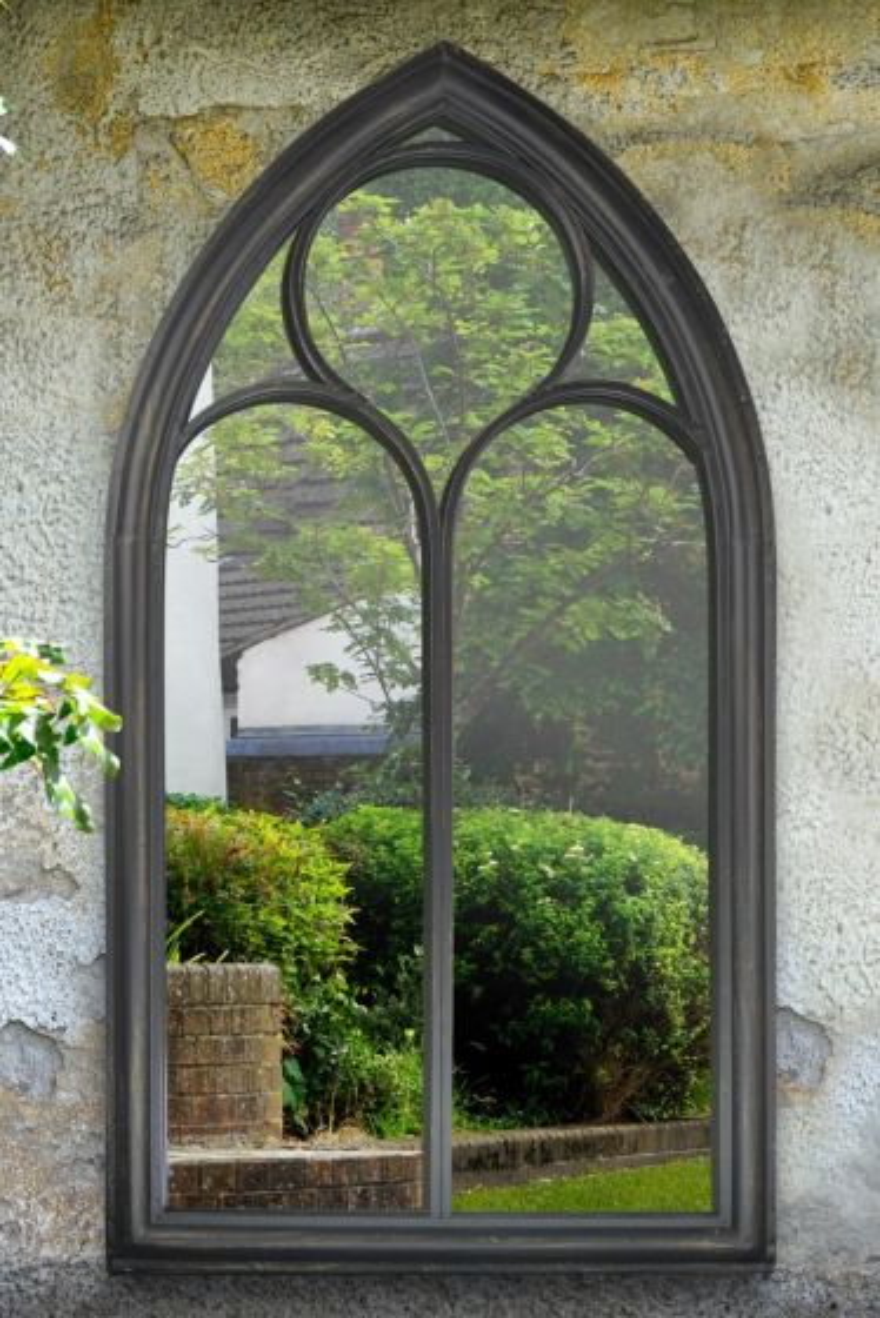 Selworthy 112x61cm Black Garden Mirror