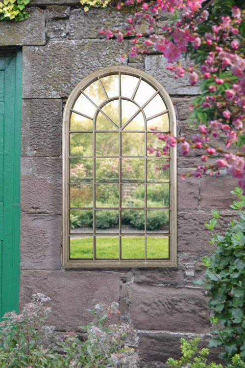 Honiton 130x76cm Cream Large Garden Mirror