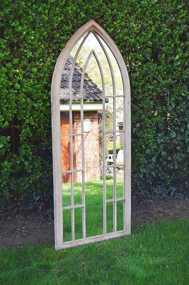 Copplestone 150x61cm Cream Large Garden Mirror