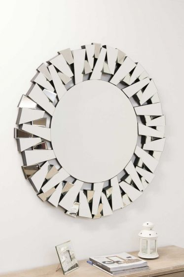Wellington 98x98cm Frameless Round Mirror