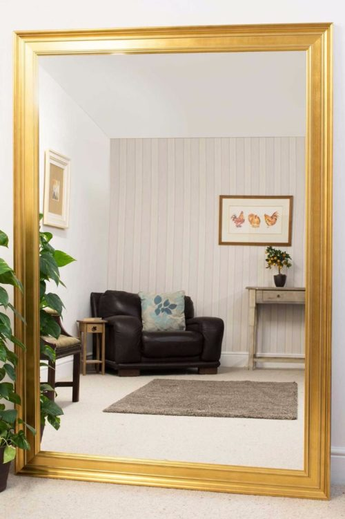 Williton 206x145cm Gold Extra Large Leaner Mirror