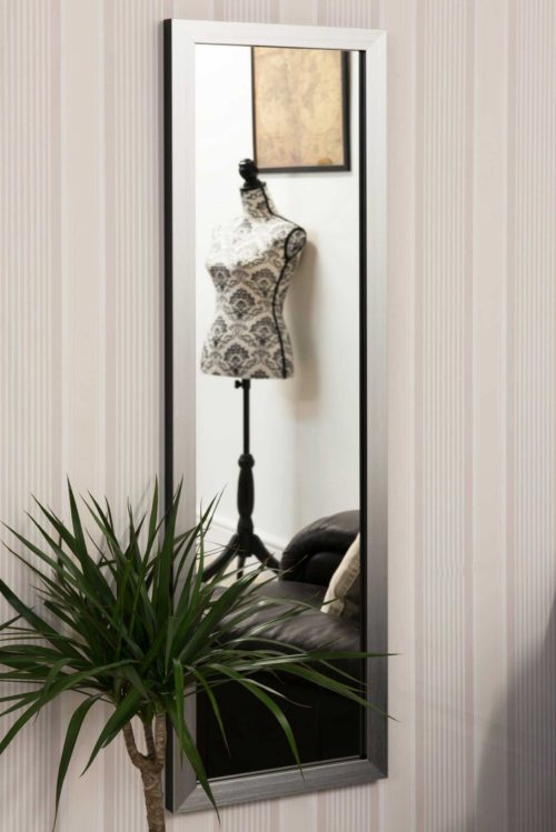 Milverton 130x38cm Silver Large Full Length Mirror