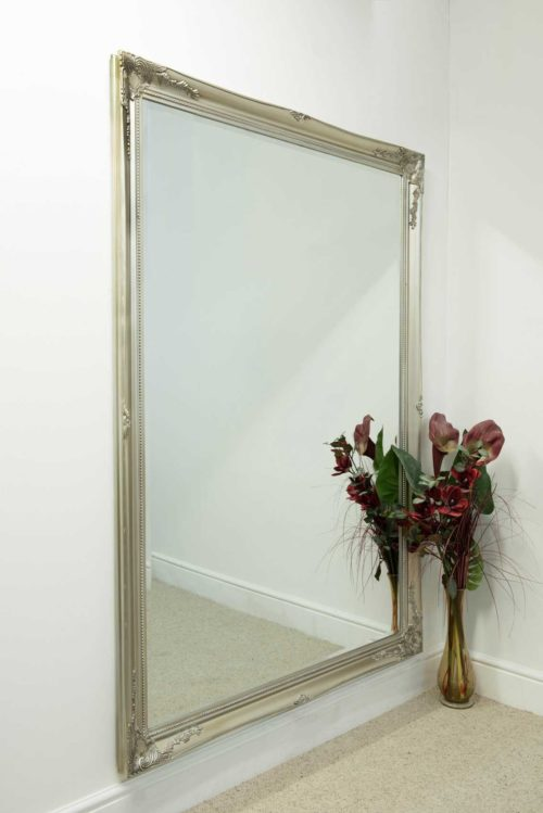 Monksilver 201x140cm Silver Extra Large Leaner Mirror