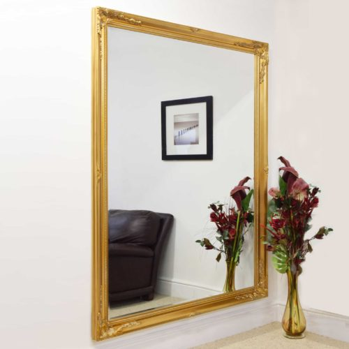 Monksilver 201x140cm Gold Extra Large Leaner Mirror