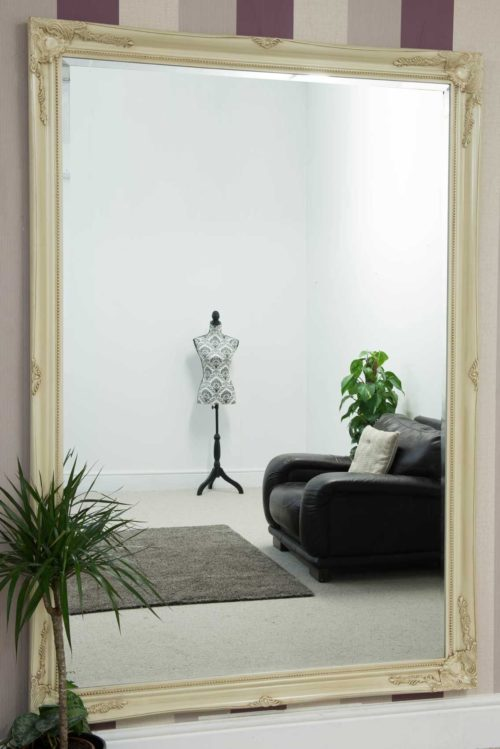 Monksilver 201x140cm Ivory Extra Large Leaner Mirror