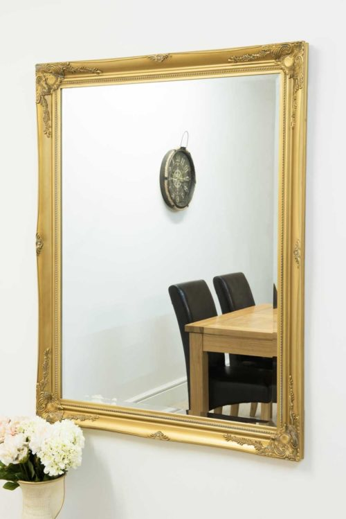Monksilver 140x109cm Gold Large Wall Mirror