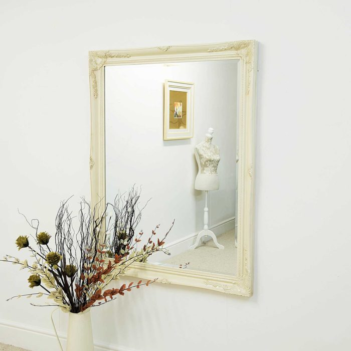 Monksilver 140x109cm Ivory Large Wall Mirror